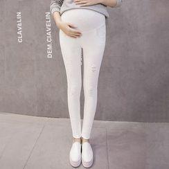 The Mommy Club - 孕婦做舊窄身牛仔褲