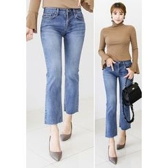 INSTYLEFIT - Washed Boot-Cut Jeans