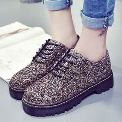 Limone - Sequined Oxfords