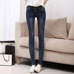 Arroba - Distressed Skinny Jeans