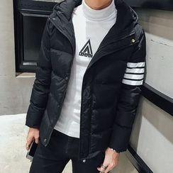 Besto - Hooded Striped Padded Jacket