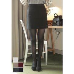 MyFiona - Zip-Side H-Line Mini Skirt
