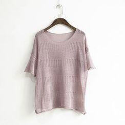 蘭芝 - 針織短袖T恤