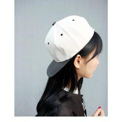 VANILLA SECOND - 仿皮插色帽
