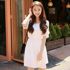 Sienne - Short-Sleeve Tie Waist Dress