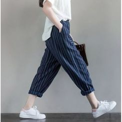 Clover Dream - Cropped Striped Wide Leg Pants
