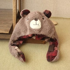 Ms Bean - Kids Bear Earflap Hat