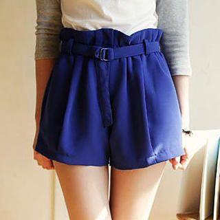Ringnor - Paperbag-Waist Belted Shorts