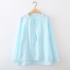 ninna nanna - 吊蘇立領襯衫