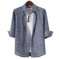 Seoul Homme - 七分袖混色衬衫