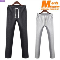 WIZIKOREA - Straight-Cut Sweatpants