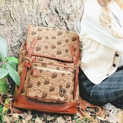 SUPER LOVER - Print Canvas Backpack