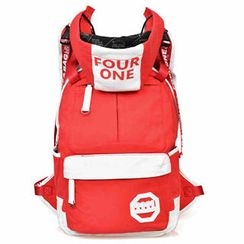 Fourone - Contrast-Color Hooded Canvas Backpack