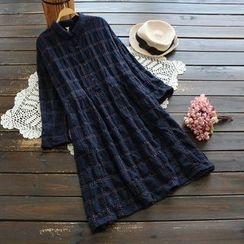 YOYO - Long-Sleeve Plaid Dress