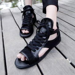 Hipsteria - Faux-Leather Sandals