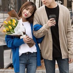 Seoul Fashion - Couple Loose-Fit Cardigan