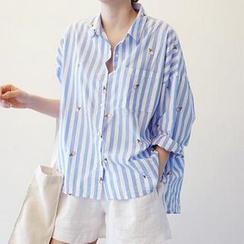 Jolly Club - 长袖条纹衬衫