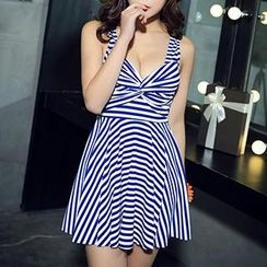 Zeta Swimwear - Striped Swimdress