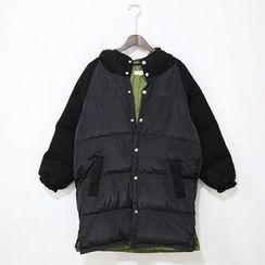 Mr. Cai - Paneled Padded Buttoned Coat