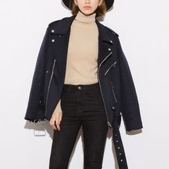 Heynew - Woolen Biker Jacket