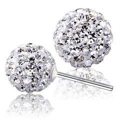 Nanazi Jewelry - Rhinestone Ball Stud Earrings