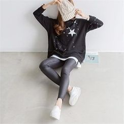 PIPPIN - Paint-Splatter Star Printed Pullover