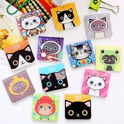 School Time - Cat Print Magnetic Bookmark