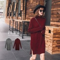 PUFII - Turtleneck Knit Dress