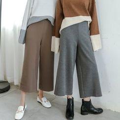 SUYISODA - Knit Wide-leg Pants