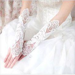 Milenio - Lace Bridal Gloves