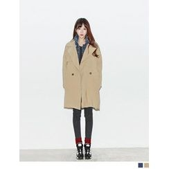 URBAN LADY - Double-Breasted Trench Jacket