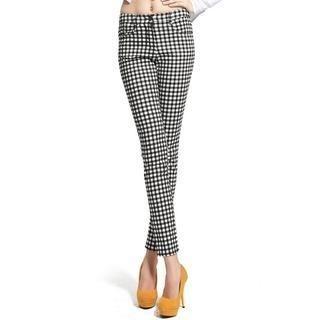 Lynley - Gingham Skinny Pants