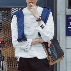 Breeson - Long-Sleeve Striped T-Shirt