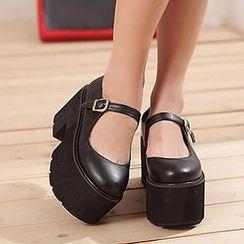 Mancienne - Platform Chunky Heels