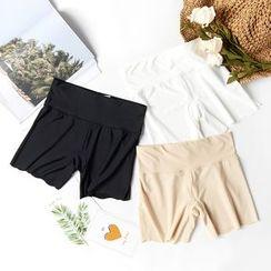 LA SHOP - 純色打底短褲