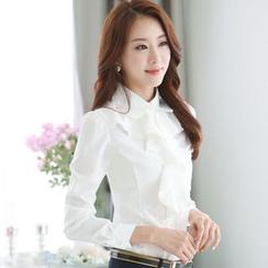 KOKA - 荷葉雪紡襯衫