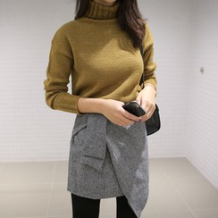 WITH IPUN - Wool Blend Trutleneck Sweater