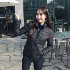 Envy Look - Inset Hooded Zip-Up Padded Jacket