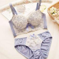 Chanions - Set: Embroidered Bra + Panties