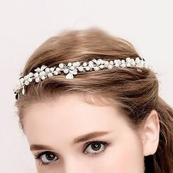 Neostar - 新娘仿珍珠皇冠