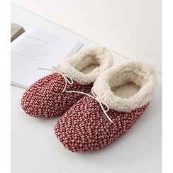 iswas - Bow-Detail Knit Slipper