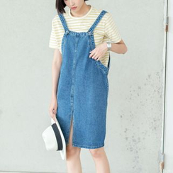 Sens Collection - Slit Denim Pinafore