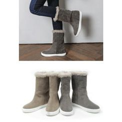 REDOPIN - Faux-Fur Faux-Suede Boots