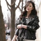 Secret;BB - Faux-Leather Jacket