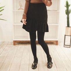 mimi&didi - Frill-Detail Mini Skirt