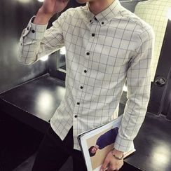 SICRIT - Plaid Long-Sleeve Shirt