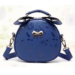 BeiBaoBao - Bow-Accent Round Cross Bag