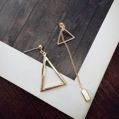Jael - Non-matching Triangle Drop Earrings