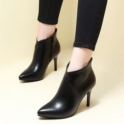 Monde - Heeled Pointy Ankle Boots