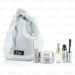 Christian Dior 迪奥 - Travel Set: Capture Totale Cream 15ml + Dreamskin 7ml + JAdore EDP 5ml + Mascara 4ml + Bag